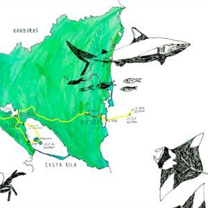 nicaragua travel map